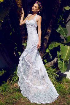 Vestido novia Adlib cola Ibiza Charo Ruiz