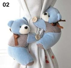 Free Shipping,tieback,window curtain hook,Litter bear Curtain buckle,belt,5 colors bear to choose-in Crafts from Home & Garden on Aliexpress.com