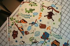 Cute fabric for baby's room