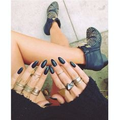 black nails & studded boots