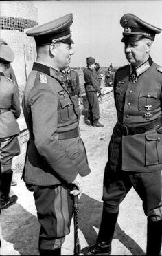 Generalfeldmarschall Erwin Rommel & Adolf-Friedrich Kuntzen.