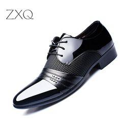 ab0898106d Luxury Brand Men Shoes Men's Flats Shoes Men Patent Leather Shoes Classic  Oxford Shoes For Men New Fashion