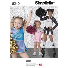 Cheerleading costumes sized for children 3 to 6 and girls 7-14 are great for…