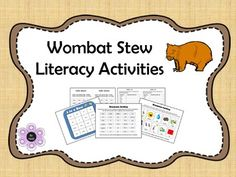 Literacy activities based on the book Wombat Stew by Marcia K Vaughan and Pamela Lofts.**Updated January Retelling Events in Wombat Stew Cloze - Words only and picture Grammar Sorting - Nouns, verbs and adjectives Writing Ins. Daily 5 Activities, Road Trip Activities, Sorting Activities, Wombat Stew, Sequencing Pictures, Unit Plan, Australia Day, Australian Animals, Picture Cards