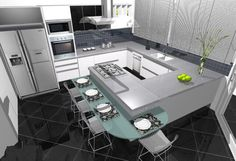 Como farei minha cozinha???   Agora um dos próximos passos é decidir como será minha cozinha!!   Ela será com bancada americana, em L, ...