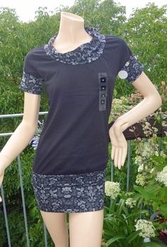 ღ Shirtkleid ღ langes Shirt ღ Einzelstück Gr. M von allesdabeidesign auf DaWanda.com Shirts, Etsy, Style, Dresses For Women, Clothing, Shirt, Dress Shirts, Top, Tees