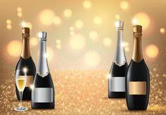 Glasses of champagne on light Art Images, Vector Art, Champagne, Clip Art, Wine, Glasses, Lighting, Flower, Bottle