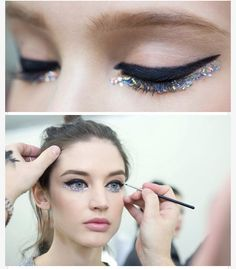 Chanel runway 2014 It looks as though it is her eyes themselves that sparkle. Really gorgeous!