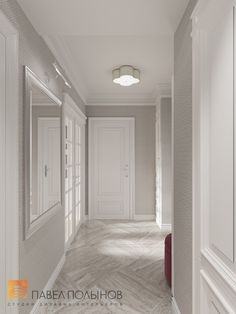 Фото коридор из проекта «Интерьер квартиры в классическом стиле в ЖК «Времена года», 61 кв.м.»