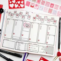 Are you looking for gorgeous pink and red bullet journal themes for valentines day? Or even just romantic and feminine bullet journal and planner themes? We have collected over 80 gorgeous themes to inspire stunning bujo layouts February Bullet Journal, Bullet Journal Monthly Spread, Bullet Journal Cover Page, Bullet Journal 2020, Bullet Journal Notebook, Bullet Journal Aesthetic, Bullet Journal Themes, Bullet Journal Inspo, Bullet Journal Layout