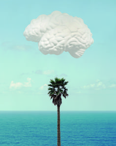 Brain/Cloud (With Seascape and Palm Tree) 2009 by John Baldessari