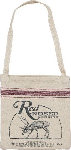 Red Nosed Reindeer Feed Bag from The Holiday Barn