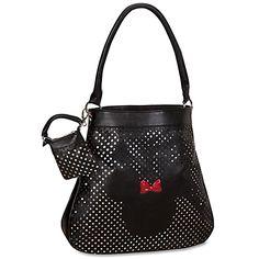 Disney Couture Minnie Mouse Hobo Bag with Detachable Mini-Purse