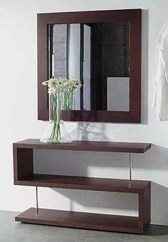 consola recibidor modernas con espejo