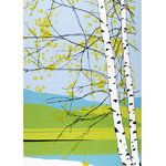 Marimekko Kaiku Green / Blue Fabric Repeat Maija Louekari's Kaiku print can easily be made into a stunning wall-hanging or duvet cover. With a lovely birch tree amidst a stunning, spring landscape, the colors of the Marimekko Kaiku Fabric Repe. Marimekko Fabric, Spring Landscape, Textiles, Tyga, Modern Prints, Blue Fabric, Cotton Fabric, Crate And Barrel, Decoration