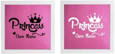 Vinyl Sticker for DIY Box Frame  PRINCESS/TIARA - personalise with own name #Unbranded #allocassions