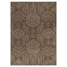 Wool rug with a organic-inspired floral motif.   Product: RugConstruction Material: 100% WoolColor: Gr...
