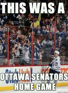 Leafs Nation, you're crazy. But you're awesome, too. Go Leafs.
