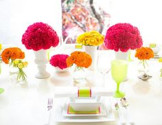 Decoracion de mesas para una recepcion de dia