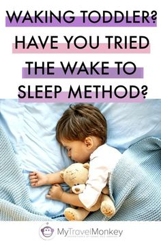 If your child has been waking up in the night at the same time, then the wake to sleep method is a simple technique that can help them settle back into a good sleep routine. And it really works.  #parents #parenting #sleeptraining #toddlers #parentingtips #parentingadvice via @mytravelmonkey