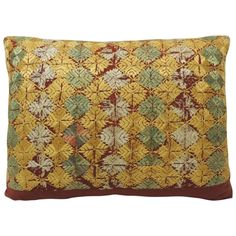 19th Century Indian Silk Embroidery Bolster Pillow   From a unique collection of antique and modern pillows and throws at https://www.1stdibs.com/furniture/more-furniture-collectibles/pillows-throws/