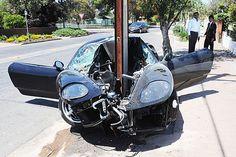 Ferrari 360 Modena crash in Walkerville SA-360 crash stobie front doors AshSimmonds • Adelaide city icon • stobie pole style • South Australia • riawati