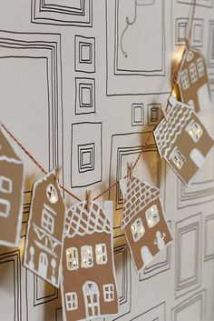 How to Make Cardboard Gingerbread Garland DIY How to Make Cardb. How to Make Cardboard Gingerbread Garland DIY How to Make Cardboard Gingerbread Garland DIY Diy Christmas Garland, All Things Christmas, Winter Christmas, Christmas Holidays, Christmas Decorations, Christmas Shopping, Christmas Gingerbread, Diy Decorations Paper, Simple Christmas