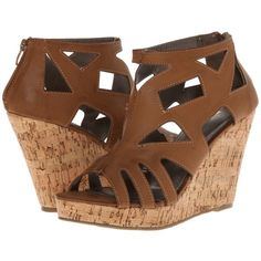 Gabriella Rocha Malena Women's Wedge Shoes, Beige ($30) ❤ liked on Polyvore  featuring