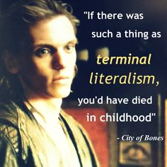 """City of Bones Movie Trailer #2 and book quotes! """"If there was such a thing as terminal literalism"""
