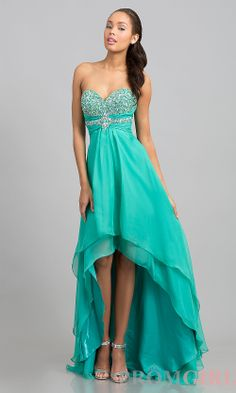 Prom Dresses, Plus Size Prom Dresses, Prom Shoes -PromGirl   : High Low Strapless Sweetheart Dress