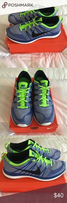 Nike Flyknit One, size 11 Nike Flyknit. Blue with volt detail. Nike Shoes Athletic Shoes