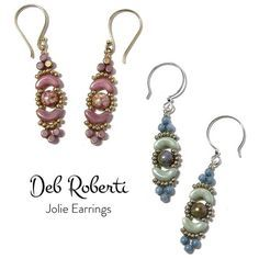 Jolie Earrings - Free Pattern at Around the Beading Table