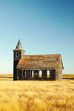 The abandoned Rocky Valley Lutheran Church, the last building still standing what *was* Dooley, Montana. by Todd Klassy