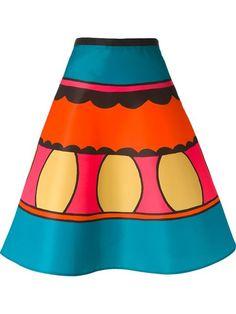 Red Valentino Striped A-line Skirt - Twist'n'scout - Farfetch.com