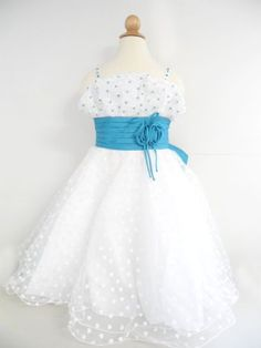 Princess Girl Toddler Classic Blue Flower Wedding « StoreBreak.com – Away from the busy stores
