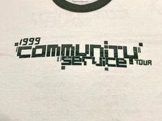 Community Service Tour Ringer T Shirt Vintage 1999 Live   Etsy Mohawk For Men, Crystal Method, Vintage Band T Shirts, Concert Tees, Community Service, Tour T Shirts, All Star, Vintage Outfits, Tulsa Oklahoma