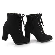 boots style shoes – stiefel stil schuhe sup i'm sandy i love fashion and outfits. High Heels Boots, Black Heel Boots, Black Heels, Pumps Heels, Heeled Boots, Ankle Boots, Lace Up Heel Boots, Boot Heels, Flats