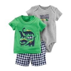 Newborn Baby Boy Summer Clothes Suit Cartoon Dinosaur Print Clothes For Baby Boy Baby Set Infant Rompers T Shirt Pants 2018 Fashion Kids, Baby Boy Fashion, Fashion Dolls, Fashion Purses, Fashion Scarves, Fashion Outfits, Fashion Wear, Fashion Clothes, Fashion Shoes