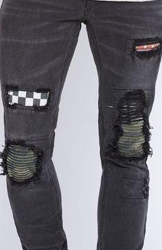 Skinniest Comfort Stretch Stitch & Repair Black Jeans Repair Jeans, Pacsun, Stretches, Black Jeans, Skinny, Stitch, Denim, Fabric, Pants