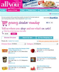 Couponing site...www.allyou.com