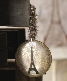 Take a look at this Eiffel Tower Ornament by Vintage Christmas: Home Décor on @zulily today!