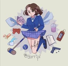 Heathers - Veronica Sawyer by yorripi on DeviantArt Veronica Heathers, Jd And Veronica, Heathers Fan Art, Heathers The Musical, Cosplay Characters, Cute Art Styles, Danganronpa Characters, Art Sketches, Art Drawings