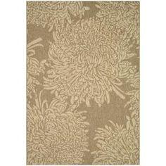 Martha Stewart Living Crysanthemum Coffee/Sand 5x7 indoor/outdoor area rug $99.96 at Home Depot