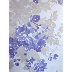 Osborne & Little Ginevra Wallpaper (5.125 RUB) ❤ liked on Polyvore featuring home, home decor, wallpaper, light purple wallpaper, blossom wallpaper, flower stem, osborne little wallpaper and flower home decor