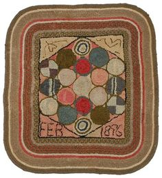 Vintage Hooked Rugs | Brunk Auctions - Antique Hooked Rug