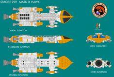 Gerry Andersons Space 1999 Mk IX Hawk by ArthurTwosheds.deviantart.com on @deviantART