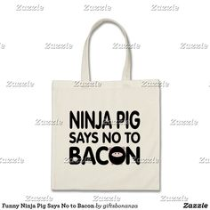 Funny Ninja Pig Says No to Bacon