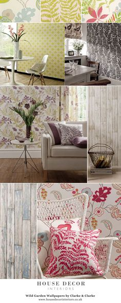 Wild Garden Wallpapers by Clarke & Clarke @ House Decor Interiors    #DecoratingIdeas #WildGarden #Fabrics #Funky #RoomIdeas #modernRoom