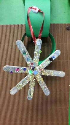 Snowflake lollypop decoration