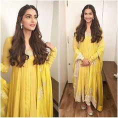 #SonamKapoor decides to brighten up #Diwali in this #AnamikaKhanna ensemble.